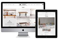 modern minimal website industrial furniture