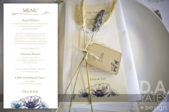 custom-australian-wedding-menu-design