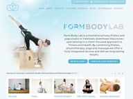 Logo & Website Design, Yoga & Pilates Studio