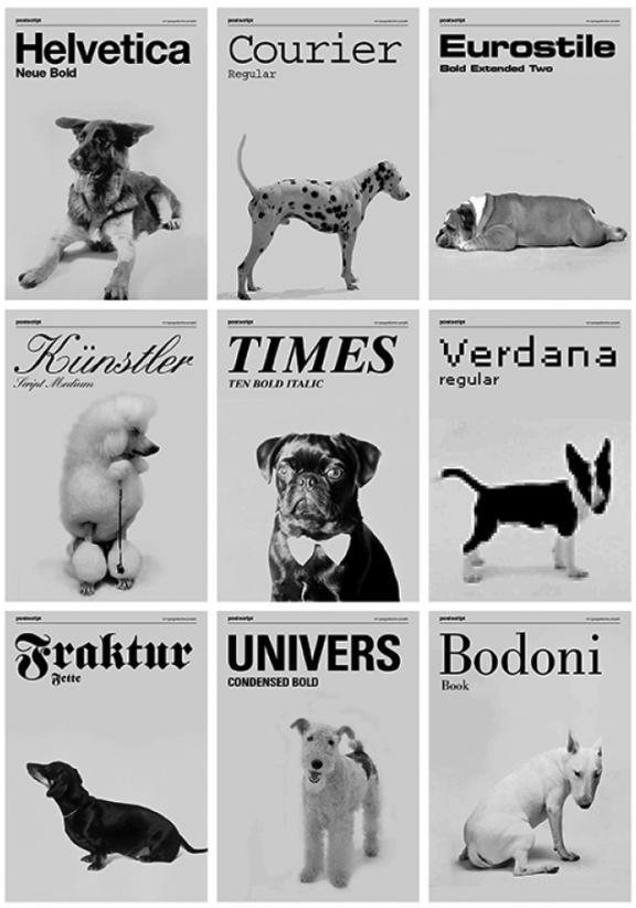 dog-fonts