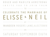 Country Rustic Wedding Invitation & Menus