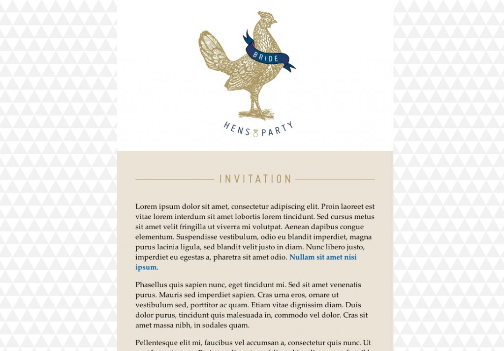 hens party email template