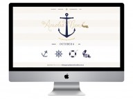 Nautical Themed Wedding Invitation & Website