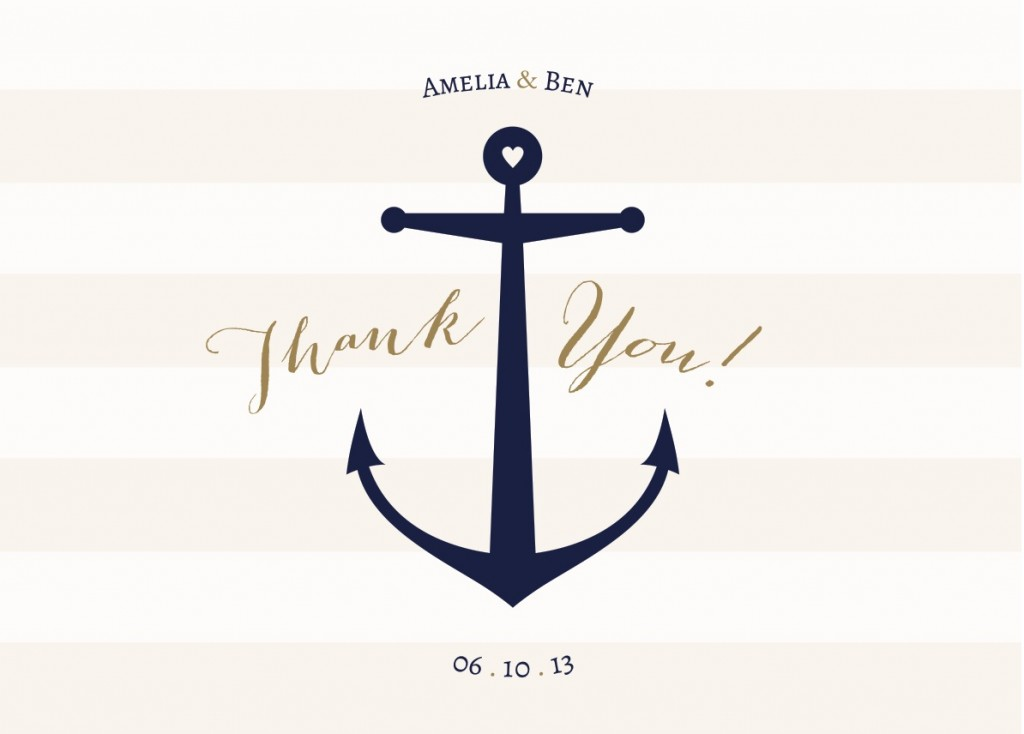 nautical yacht sailing club wedding invitation illustratonthnk you card