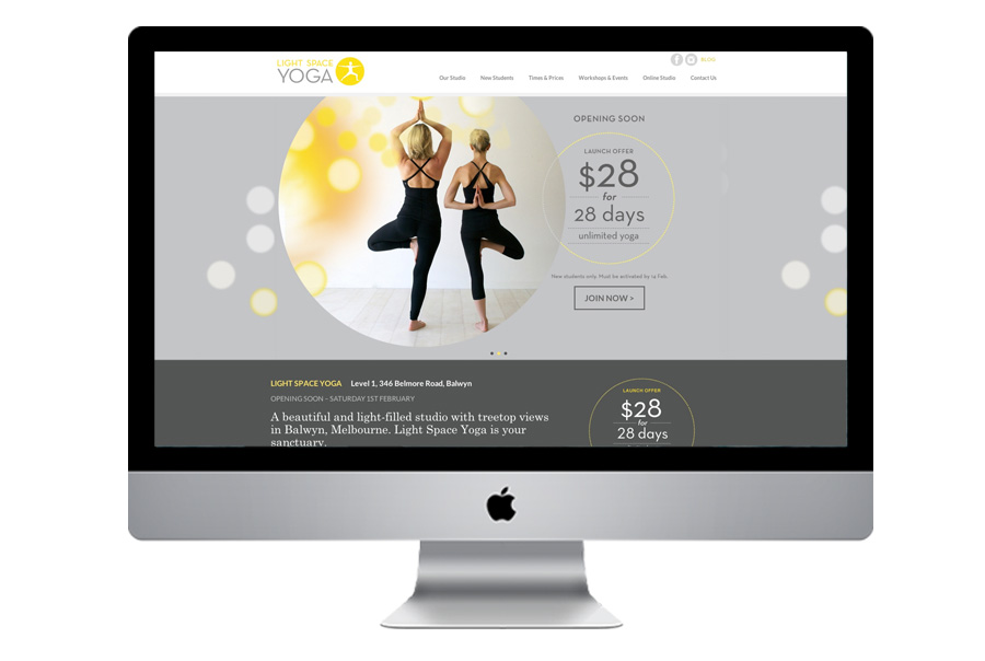 Web Design for Yoga and Pilates Studios Sydney