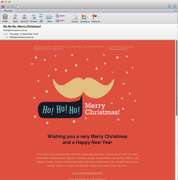 Deck The Halls With Bells And Freebies Freelance Web Designer - Mailchimp invitation template