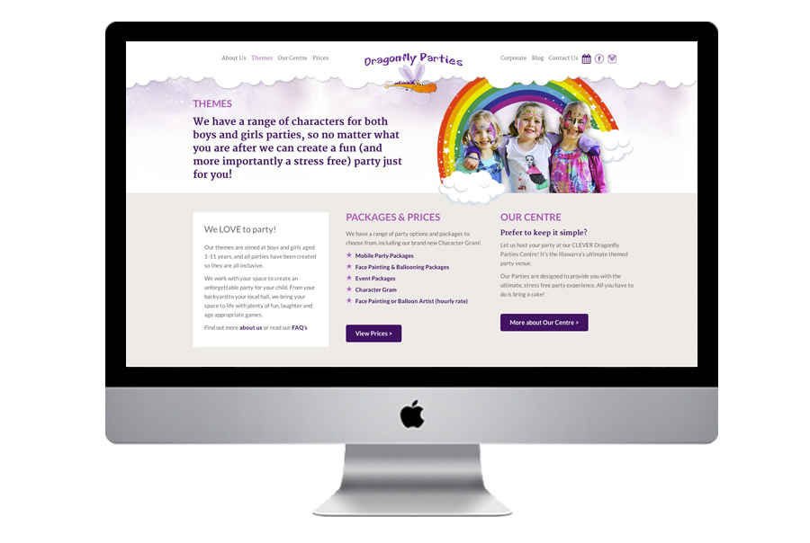 DP-website-design-kids-parties