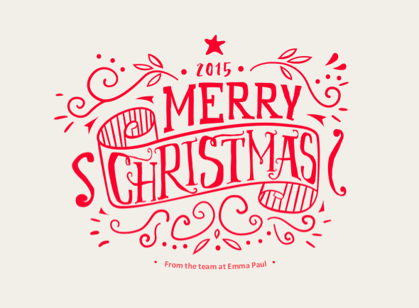 Free Christmas Card 2015 Emma Paul  Free Christmas Card Email Templates