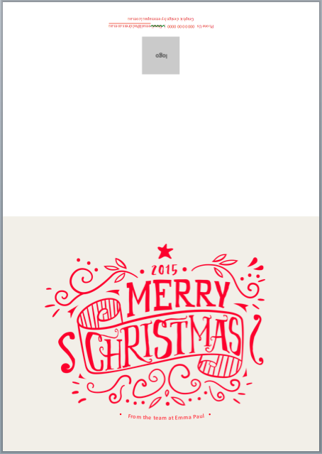 Good Free Christmas Card Template 2015 Emma Paul Inside Free Xmas Card Template