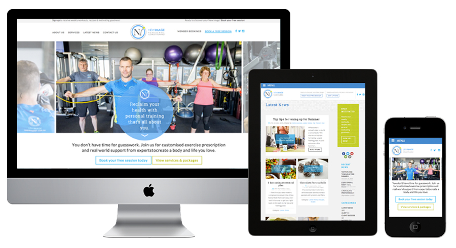 Web design for gyms and personal trainers