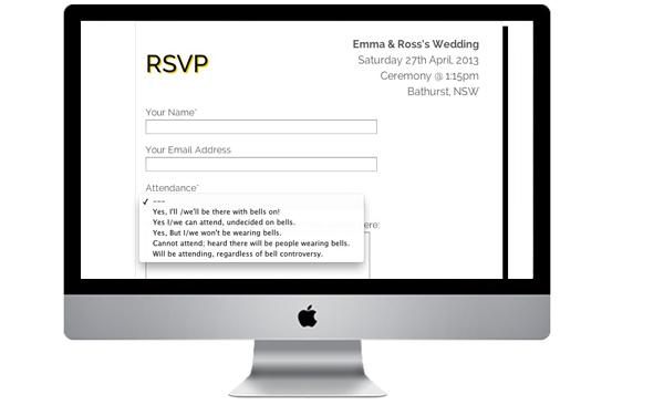 wedding rsvp online