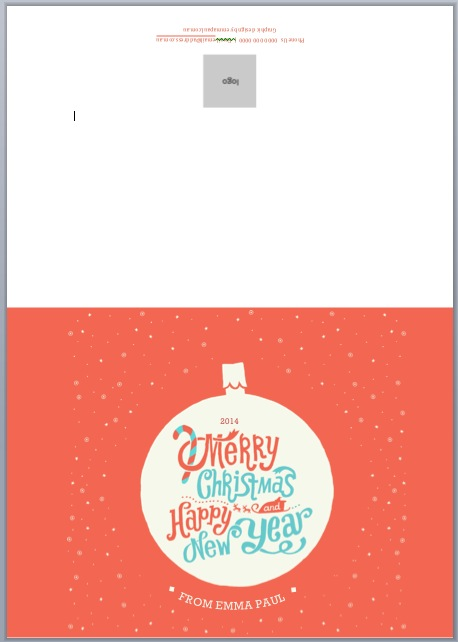 free corporate xmas card template design