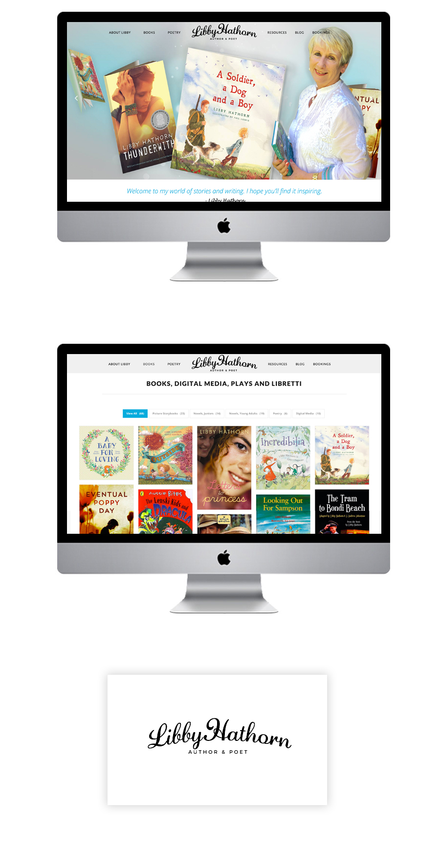 author-wordpress-website-example-freelance-sydney