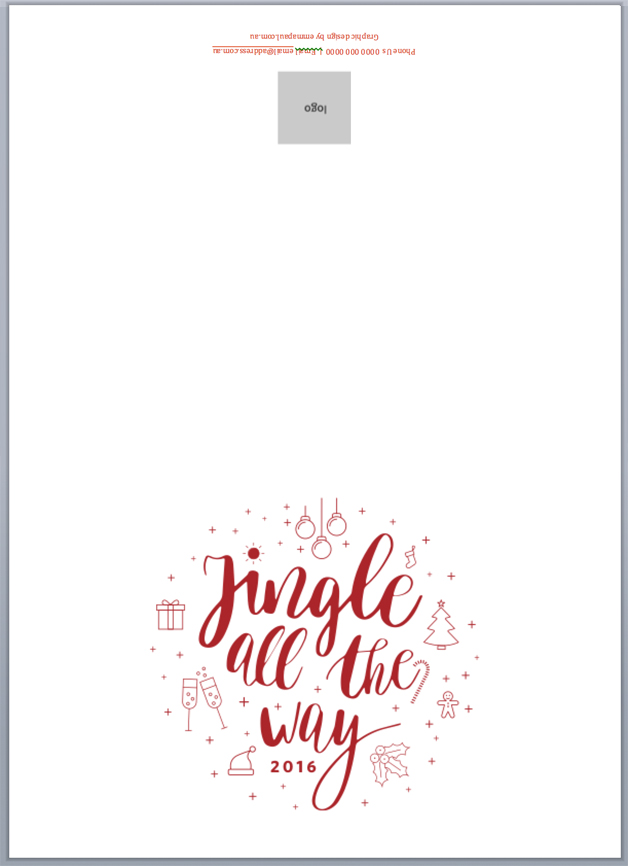 photograph about Printable Photo Christmas Card identified as Jingle all the route! Cost-free printable 2016 Xmas Card