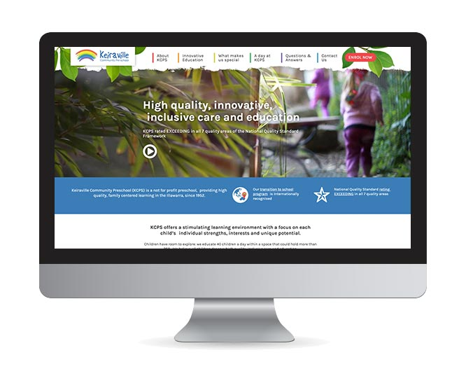 preschool-education-website-design